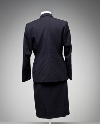 Back view of wintertime dress uniform