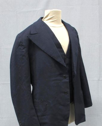 3/4 view of coat and waistcoat