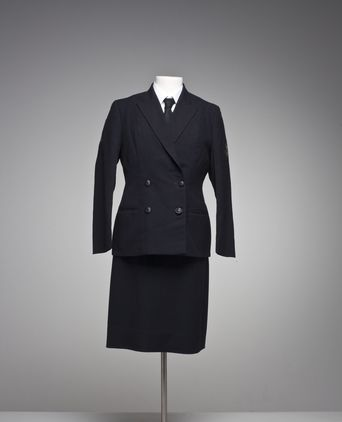 Front view of wintertime dress uniform