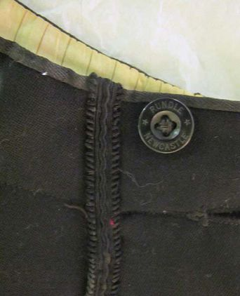 Trouser waist band detail