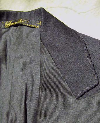 Jacket lapel and label detail
