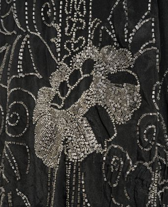Close up of beaded floral motif