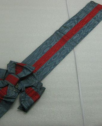 Privy Council Uniform - ceremonial half sash (possibly for use with missing cloak)  [taken 9-11-09]