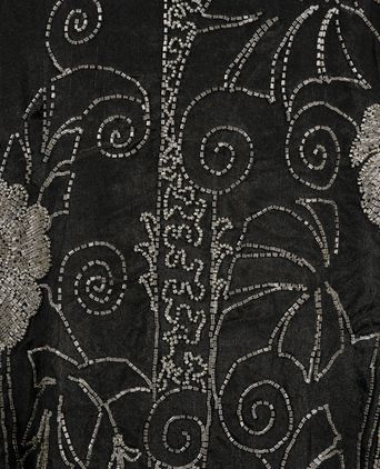 Medium close-up of beaded floral motif