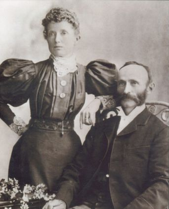Ellen & Charles Sharam on their Wedding Day, 1895