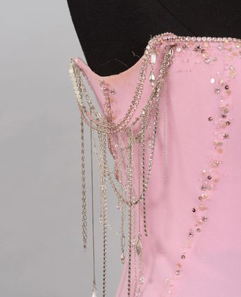 Evening dress beading detail