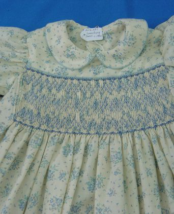 close up of smocking