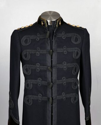 Front view of Queensland Police Inspector Dress Tunic with rank insignia of Police Commissioner