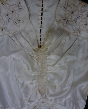 Staining on the bodice front