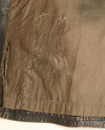 Mould on the lining of the leather coat
