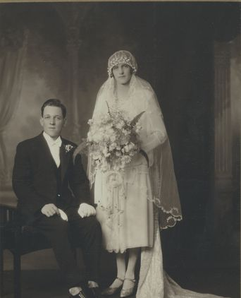 Wedding photo of Percival and Gertrude 1927