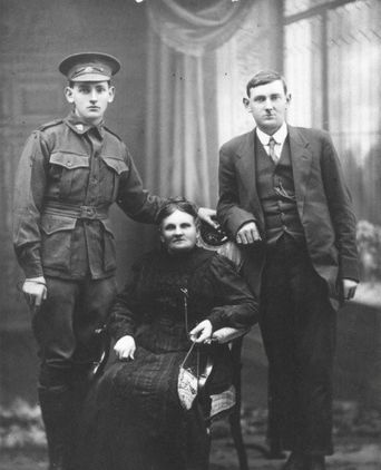 Jane with sons Bill and Sonny, Sydney, c. 1916