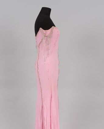 Evening dress side