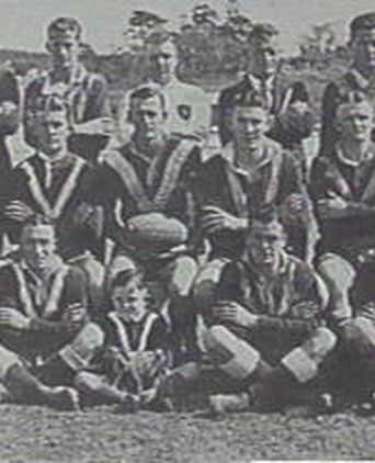 Freshwater Surf Life Saving Club Rugby League Football Team Premiers, 1934. Henderson (Vice Captain) middle row fourth from left.