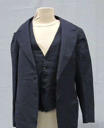 Front view of jacket and waistcoat