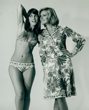 Qantas Pucci uniform promotion, November, 1974