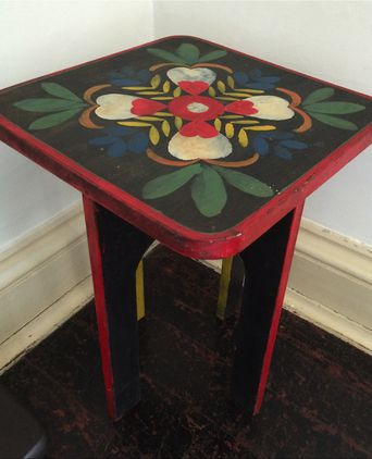 Hand painted occasional table probably made by Dorothy Leviny
