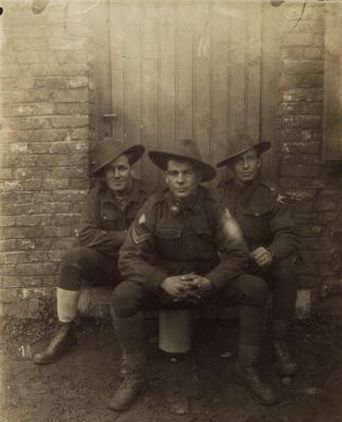 Soldiers of the 24th Battalion at the Front, Charlie Moss far right