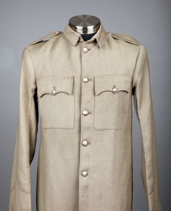 Front view of tunic worn by Acting Sergeant Daniel Fitzgibbon