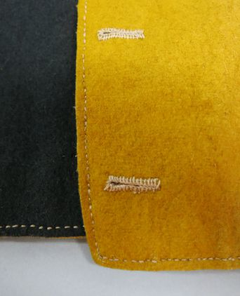 Buttonholes and edge top stitching. Photographed 24/09/2013, Deb Wise