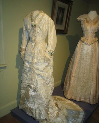 Wedding dress as exhibited in Love, Desire and Riches exhibition (photograph courtesy of Lynn Morris)