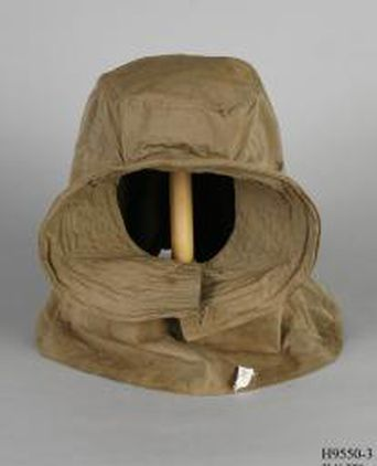 Snow helmet used by Morton Henry Moyes during Sir Douglas Mawson's Australasian Antarctic Expedition, 1911-1913