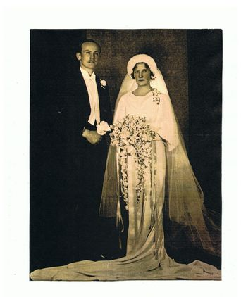 Ron and Christina Winifred Howell (known as Win) on their wedding day 5 September 1935