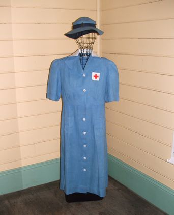 VAD Uniform Dress, 1940 with VAD Hat