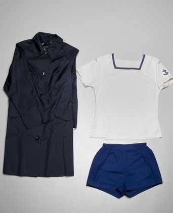 Physical training uniform, and rain coat