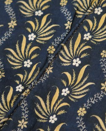 Detail fabric showing carerfully matched seams