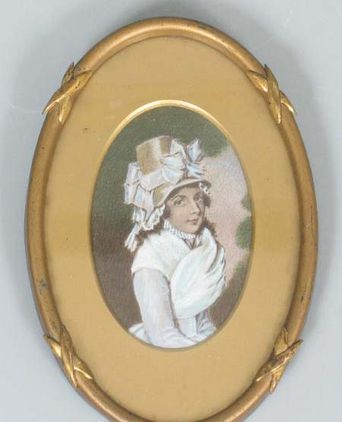 Miniature wedding portrait of Elizabeth Marsden (mother of Ann Marsden) c1793