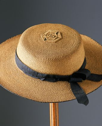 Cabbage Tree Hat owned by John C. Read, ca. 1860-1880