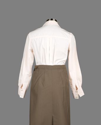 Rear view of blouse and skirt.