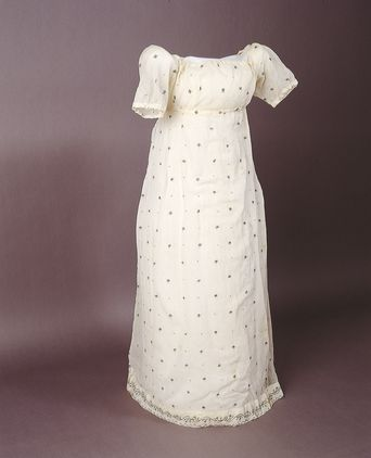 Evening dress, worn by Anna King, c. 1805 