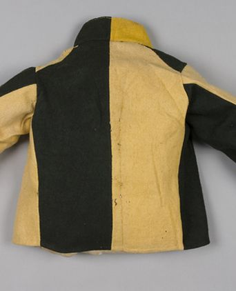 Back view of convict jacket, made in Great Britain, 1855-1880